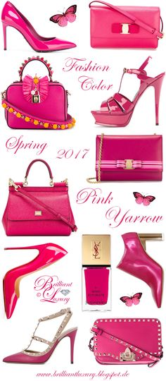 Brilliant Luxury by Emmy DE ♦ Fashion Color Spring 2017 ~ pink yarrow