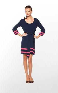 True Navy High Seas Stripe Connie Sweater Dress - Lilly Pulitzer