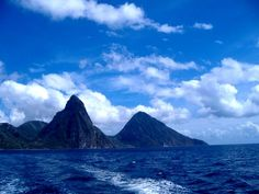 Grand Tetons in St. Lucia-wish I had hiked it.
