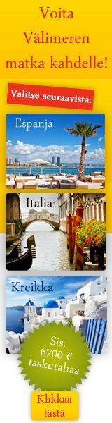 Yllätä ystäväsi Välimeren matkalla! Osallistumalla tähän mahtavaan kilpailuun voit voittaa itsellesi kahden hengen matkan Välimerelle!