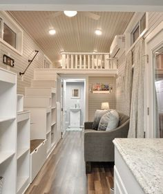 Farmstead maple floors and custom paint are used throughout the house.
