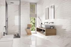 Bathroom floor tiles are more complicated than most other tile jobs because of the toilet. The tiles must be installed … Travertine Bathroom, Ceramic Tile Bathrooms, Modern Bathroom Tile, Bathroom Floor Tiles, Bathroom Shower Curtains, Bathroom Wall, Wall Tiles Design, In Natura, Wall And Floor Tiles