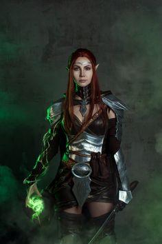 Elder Scrolls Online Cosplay is a Heroic Beauty Elder Scrolls Skyrim, The Elder Scrolls, Elder Scrolls Online, Medieval, Fantasy Characters, Female Characters, Elf Cosplay, Skyrim Cosplay, Female Elf