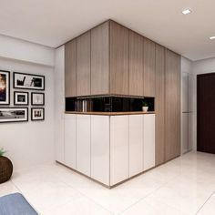 Beautiful Kitchen That Gives You Lots of Storage Spaces - Interior Design Singapore Flur Design, Hall Design, Armoire Entree, Shoe Cabinet Design, Hallway Cabinet, Interior Design Singapore, Wardrobe Cabinets, Beautiful Kitchens, Home Interior