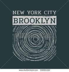 Vector illustration on the theme of New York City, Brooklyn. Vintage design. Grunge background. Typography, t-shirt graphics, print, poster, banner, flyer, postcard