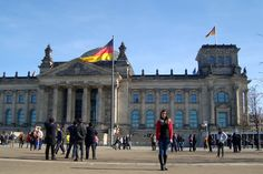 In front of the Reichstag - Berlin 2015