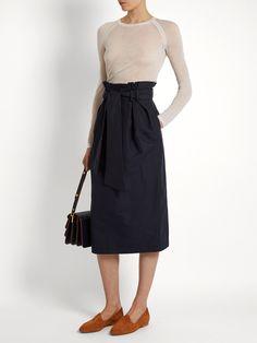 Jordan paperbag-waist cotton skirt | Gabriela Hearst | MATCHESFASHION.COM US
