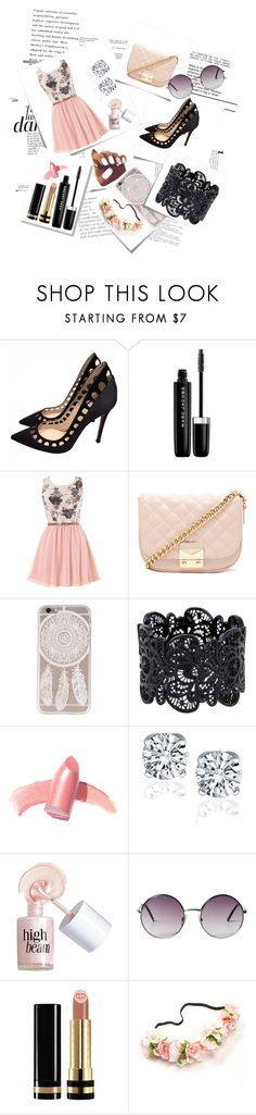 """""""Untitled #1"""" by perlahak ❤ liked on Polyvore featuring Anja, Post-It, Gianvito Rossi, Marc Jacobs, Forever 21, Elizabeth Arden, Benefit, Monki and Gucci"""