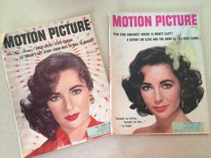 1958 Motion Picture Magazines With Liz Taylor Covers Hollywood Magazines Featuring Elizabeth Taylor Movie Star Stories February  June 1958 by sweetserendipityvint on Etsy