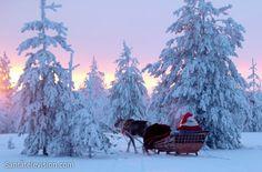 Santa Claus reindeer ride