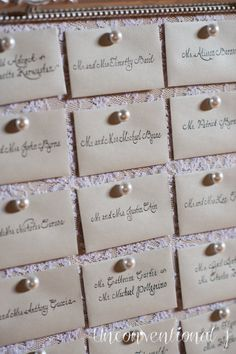 Wedding Escort Card Seating Cork Board Pearl by unconventionalJ