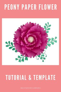 This paper flower template and tutorial will definitely add a charming look to your paper flower backdrop. Learn how to make it easy with my templates and tutorial! #paperflowertemplate #paperflowertutorial #paperflowersvg #paperflowerdiytemplate #paperflowerdiytutorial #flowertemplatesvg #paperflowerdiy #paperflowerseasy #paperflowerscraft Large Paper Flower Template, Paper Flower Tutorial, Easy Paper Flowers, Paper Flower Backdrop, Flower Words, Giant Paper Flowers, Printable Templates, Flower Center, Pink Paper