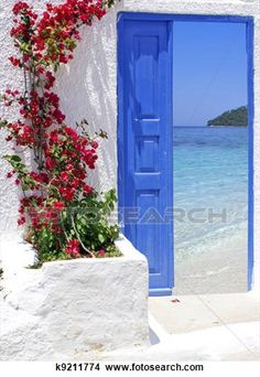 See Santorini Art Prints at FreeArt. Get Up to 10 Free Santorini Art Prints! Gallery-Quality Santorini Art Prints Ship Same Day. Mykonos Island Greece, Paros Greece, Greece Pictures, Belle Villa, Greek Islands, Great View, Windows And Doors, Places To Go, Beautiful Places