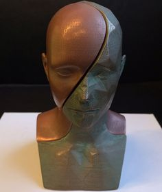 'Split Personality' The 3D Printed copperFill & bronzeFill Bust That Will Blow you Away