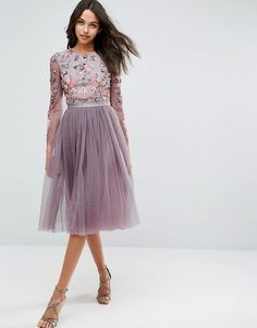 Needle & Thread Ditsy Scatter Tulle Midi Dress from Asos
