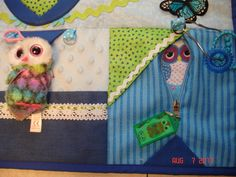 Owl Fidget Activity Tactile Sensory Touch Quilt Wheelchair