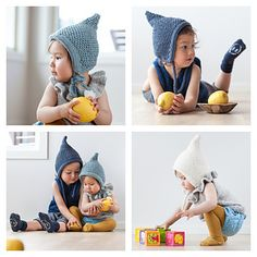 Cute and chucky pixiehat knitted in soft merino wool on needles 4.0.