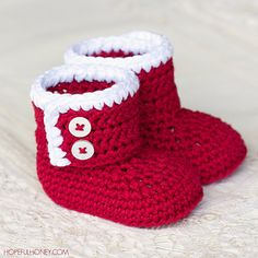 These adorable festive booties will keep even the tiniest tootsies warm this Christmas and looking especially cute! And the best part, they're extremely easy and fun to crochet!