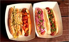 Hot dogs from Asia Dog. Photo: Elizabeth Lippman for The New York Times