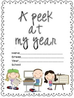 This memory book includes pages about school, friends, field trips, their favorites, recess and more. Students will have fun reflecting on their sc...
