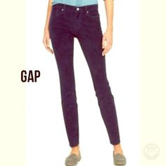 """Always Skinny Extra Thin Cords Skinny style extra thin corduroy pants NWT from GAP. Dark navy in color, you can wear these pants in every season and for every occasion.  Size 2/26.  Waist is 15"""" laying flat. inseam 28""""; length 39"""" GAP Pants Skinny"""