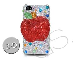 Apple 3D Bling Crystal Phone Case - Silver  http://www.dsstyles.com/iphone-5-cases/swarovski-series-apple-3d-swarovski-crystal-phone-case-silver.html