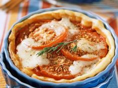 Tomatentaart met mozzarella