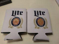 Koozie Set 2 - Miller Lite Throwback Beer Soda Coke Koozies Drink Holders Cooler