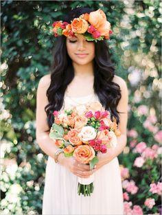 どんな花冠のデザインがお好き?花嫁さん用可愛すぎる花冠〔色別〕まとめ✳︎にて紹介している画像