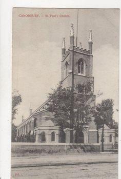 Canonbury St Pauls Church London Vintage Charles Martin Postcard 770a