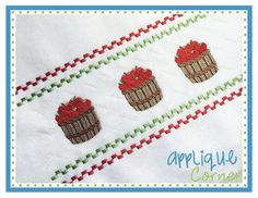 Faux Smocked Apple Barrel Embroidery Design
