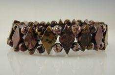 Red Flower Jasper Bead Stretch Bracelet, Genuine Jasper Beads Mauve and Mustard Colored. Etsy Jewelry, Jewelry Crafts, Handmade Bracelets, Handmade Jewelry, Selling Handmade Items, Trendy Jewelry, Fashion Jewelry, Online Gifts, Diamond Shapes