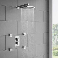 Milan Twin Square Concealed Shower Valve with Diverter - Chrome Profile Image