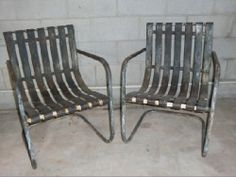 vintage metal rockers   Vintage Metal Lawn Chairs: Lot 264 (BAS) - Listing # 38195