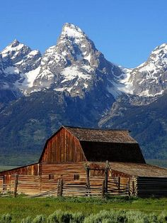 Grand Tetons in Wyoming are absolutely beautiful! I saw them when I was in my early 20's. I love this old barn.
