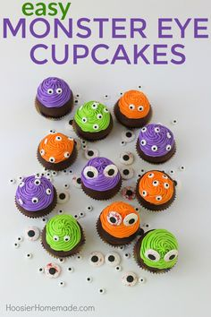 MONSTER EYE CUPCAKES