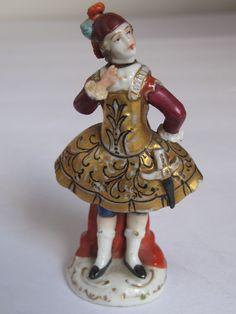 Antique 19thc. Porcelain Figural Perfume Bottle