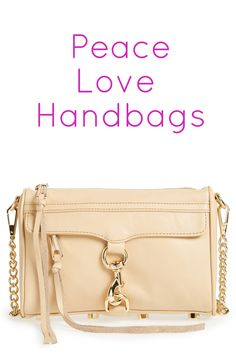All you need is love... and a great handbag! This nude Rebecca Minkoff crossbody bag with gold hardware is so chic and perfect for spring. It's just the right size... not too big or too small. It will fit your lipstick, iPhone, wallet... all the essentials!