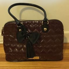 Betsy Johnson Purse. Excellent condition! Maroon/burgundy Betsey Johnson purse. Used  only a handful of times, excellent condition! Large inside. Betsey Johnson Bags Shoulder Bags