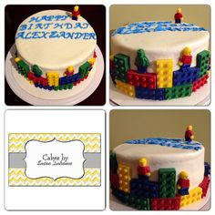 Oreo cake with Oreo filling and classic buttercream. Hand made chocolate Lego people and bricks.
