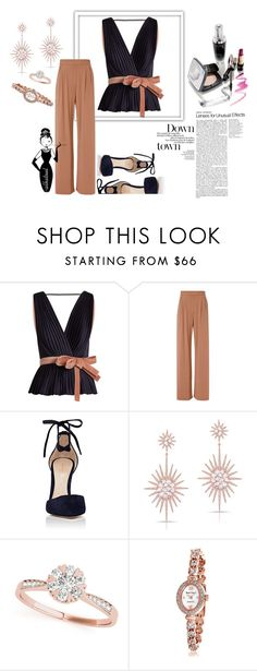 """OuFit"" by albat0ul ❤ liked on Polyvore featuring Roksanda, Fleur du Mal, Gianvito Rossi, Anne Sisteron and Bling Jewelry"