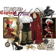 """""""Steampunk: Captain Hook"""" - definitely should be used in the peter pan play this fall! Steampunk Halloween, Steampunk Cosplay, Steampunk Clothing, Steampunk Fashion, Steampunk Kids, Disney Cosplay, Disney Costumes, Halloween Costumes, Candy Costumes"""