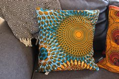 Cushion Cover - Wax Print – Lukhanyiso Arts & Crafts Handmade Cushions, Printed Cushions, African Design, Cushion Covers, Printing On Fabric, Wax, Arts And Crafts, Throw Pillows, Contemporary