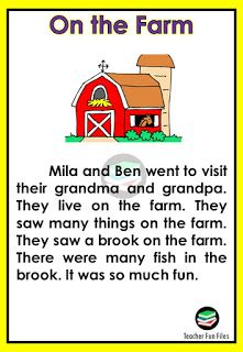 Small English Story, Basic English For Kids, English Poems For Kids, English Short Stories, English Lessons For Kids, Reading Comprehension For Kids, Phonics Reading, Reading Passages, Small Stories For Kids