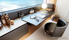 Luxury Yacht – Francesco Esposito Langella with Bay Window Dressing, Multi Design, Dressing Room Design, White Brick Walls, Luxury Yachts, Living Room Designs, Furniture Design, New Homes, Interior Design