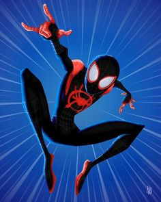 Z-1889 Hot Custom Spider Man Into The Spider Verse Action Movie Art Poster Decor