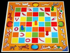 Photo of the Sizzling Sausages board game. Click to view an uncaptioned enlarged version.
