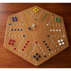 Solid Oak Hardwood Aggravation Board Game
