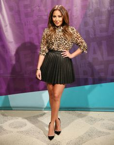 Adrienne looks hot in a L'Agence top, Zara bottoms and Christian Louboutin pumps.