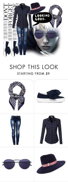 """Untitled #1183"" by leopardlover111 ❤ liked on Polyvore featuring Accessorize, Joshua's, LE3NO, ESPRIT, Mykita and Gigi Burris Millinery"